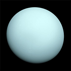 Photo of Uranus.